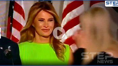 بالفيديو|| ردة فعل غريبة لزوجة الرئيس الأمريكي ميلانيا ترامب عند رؤيتها ابنته إيفانكا بمؤتمر الحزب الجمهوري