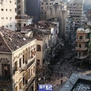 آثار الانفجار الذي هز العاصمة اللبنانية بيروت