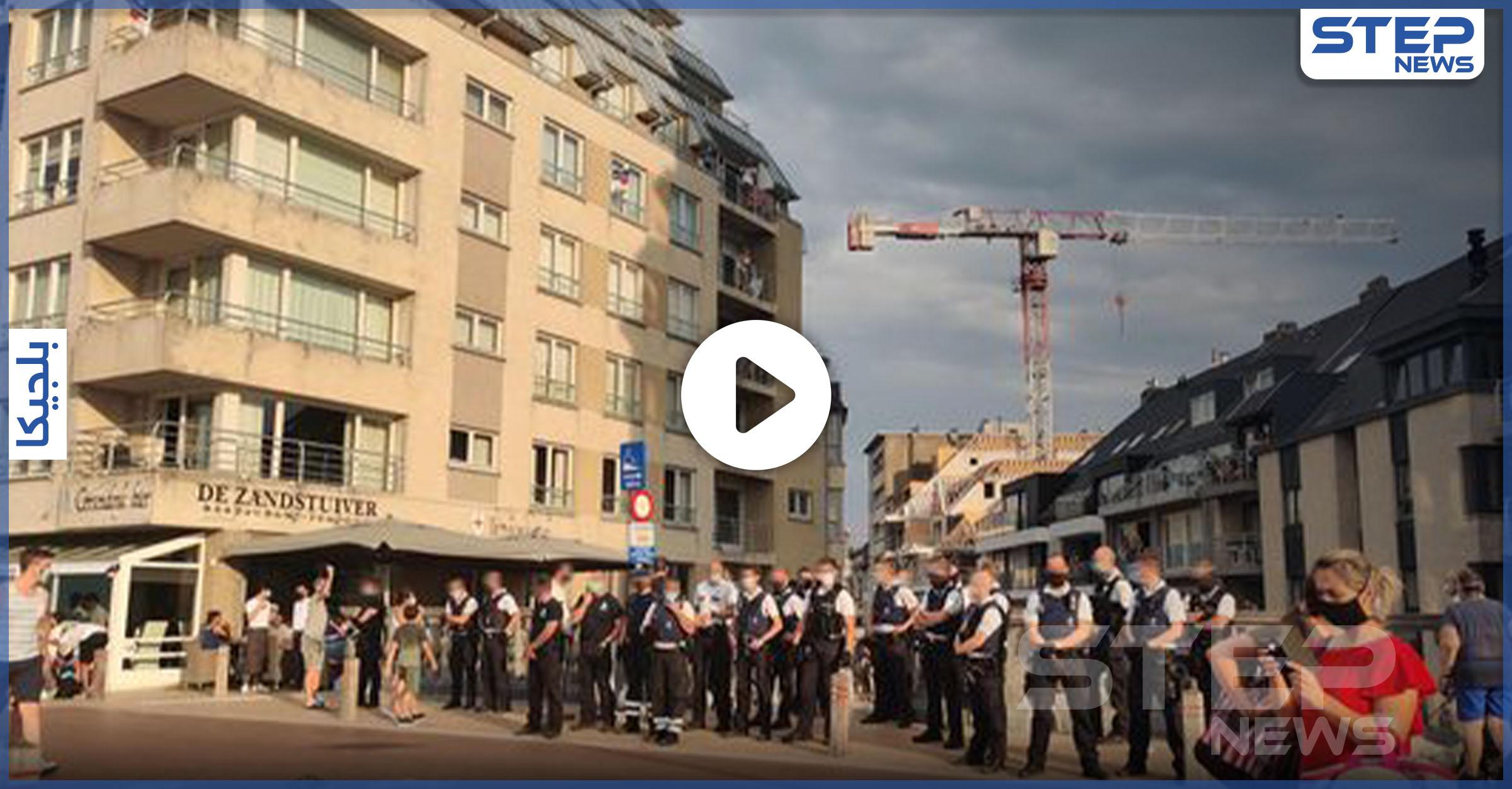 مشاجرة على شاطئ بلانكنبرغ البلجيكية بين الشرطة والمتنزهين