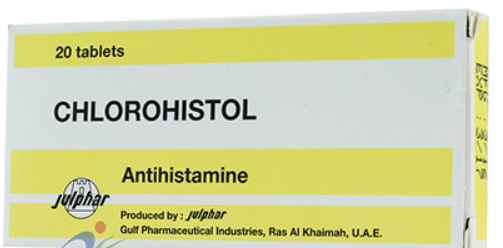 دواء chlorohistol كلوروهستول لعلاج الحساسية