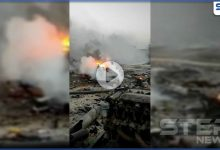 بالفيديو|| جثث متناثرة.. انفجار سيارة في رأس العين توقع قتلى وجرحى مدنيين بينهم أطفال