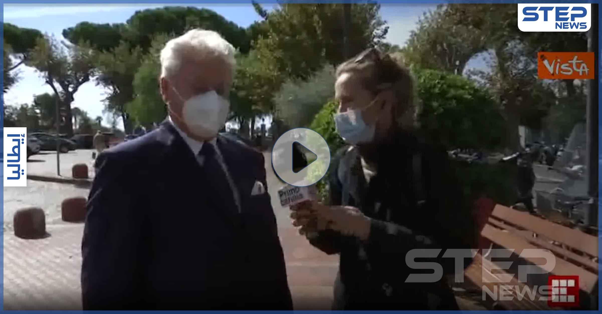 بالفيديو|| عمدة بلدية إيطالي يتعرض إلى عملية سرقة على الهواء مباشرةً
