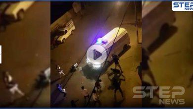 رجم رجال الأمن العام في الكرك الأردنية وأعمال شغب رفضاً لحظر التجوال (فيديو)