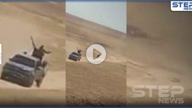 بالفيديو|| مقطع مسرب لـ هروب قوات النظام السوري من كمين لداعش وتركها مجموعة للدفاع الوطني تلاقي مصيرها