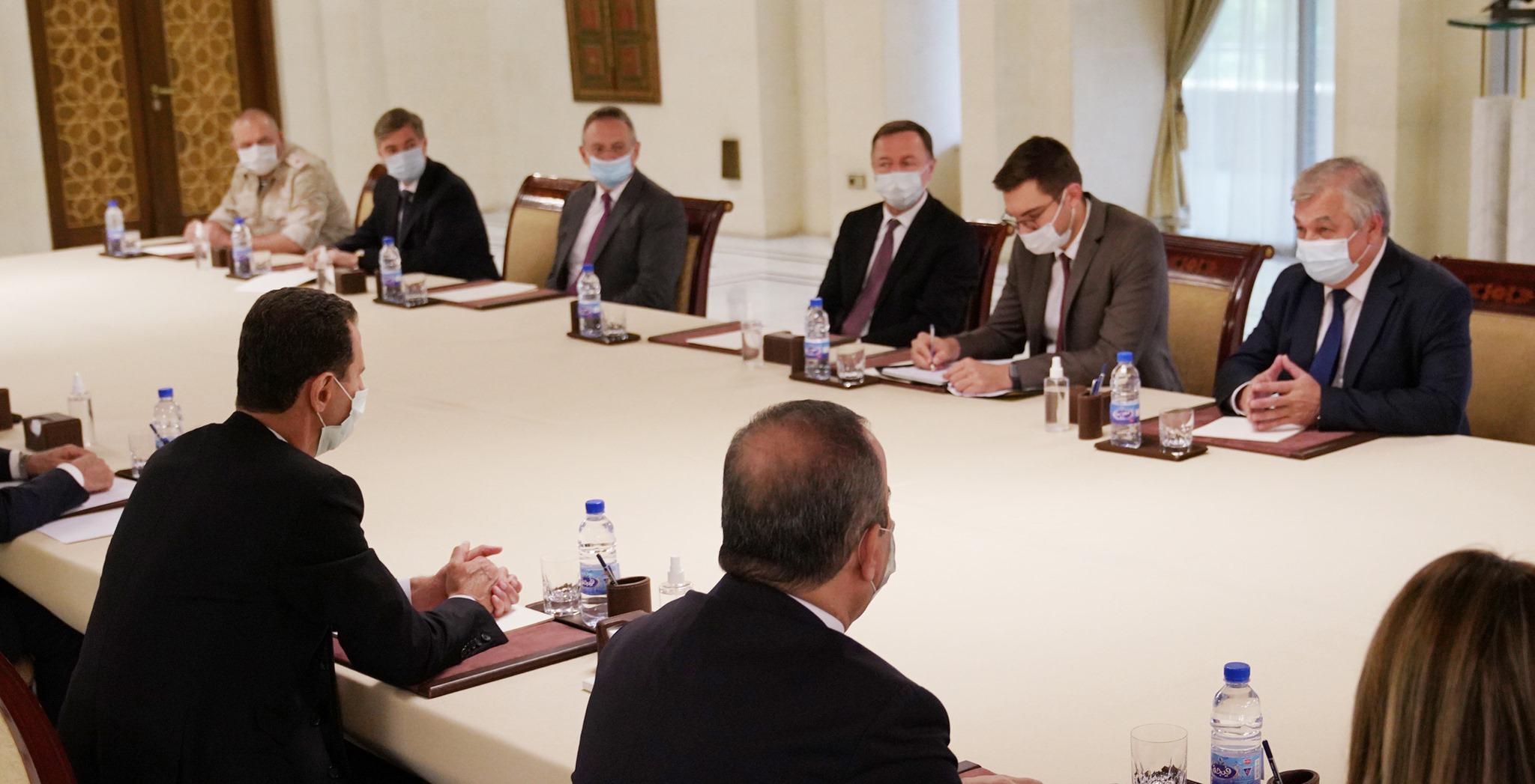 بشار الأسد يستقبل وفداً روسياً في دمشق.. للبحث في ملفات عالقة