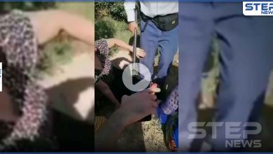 بالفيديو|| امرأة إيرانية مخضبة بدمائها بعد اعتداء عائلة مسؤول إيراني حملت منه عليها