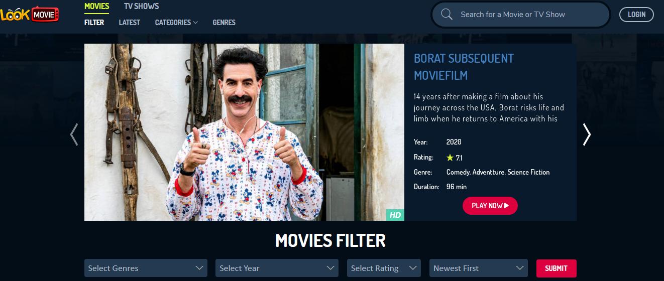 أفضل مواقع أفلام 2020 - موقع Lookmovie