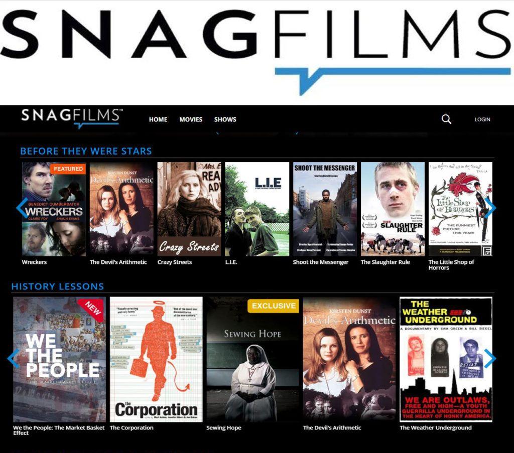 أفضل مواقع أفلام 2020 - موقع Snagfilms