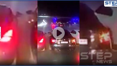 بالفيديو|| تشفيط وقطع طرقات وسط العاصمة السورية.. وأمن النظام السوري يتدخل