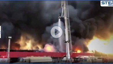 بالفيديو|| اندلاع حريق هائل في سوق مركزي بالعاصمة الكويتية واستمرار البحث عن مفقودين
