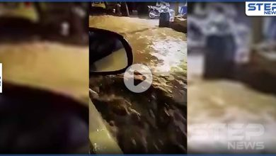 بالفيديو|| أمطار غزيرة في دمشق تسبب بإغلاق الطرقات وسيول الجارفة مع أول بشارات الشتاء
