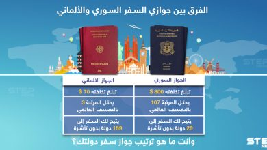 الفرق بين جوازي السفر السوري و الألماني