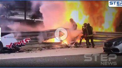 بالفيديو|| انشطرت سيارته والتهمتها النيران.. دقائق فصلت سائق سيارات من الموت في سباق البحرين