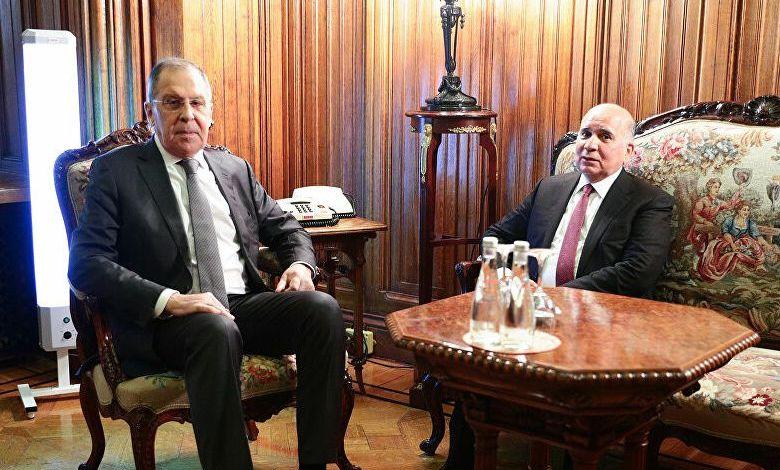 وزير الخارجية الروسي يقدم طرحاً هاماً للعراق خلال لقاء نظيره فؤاد حسين