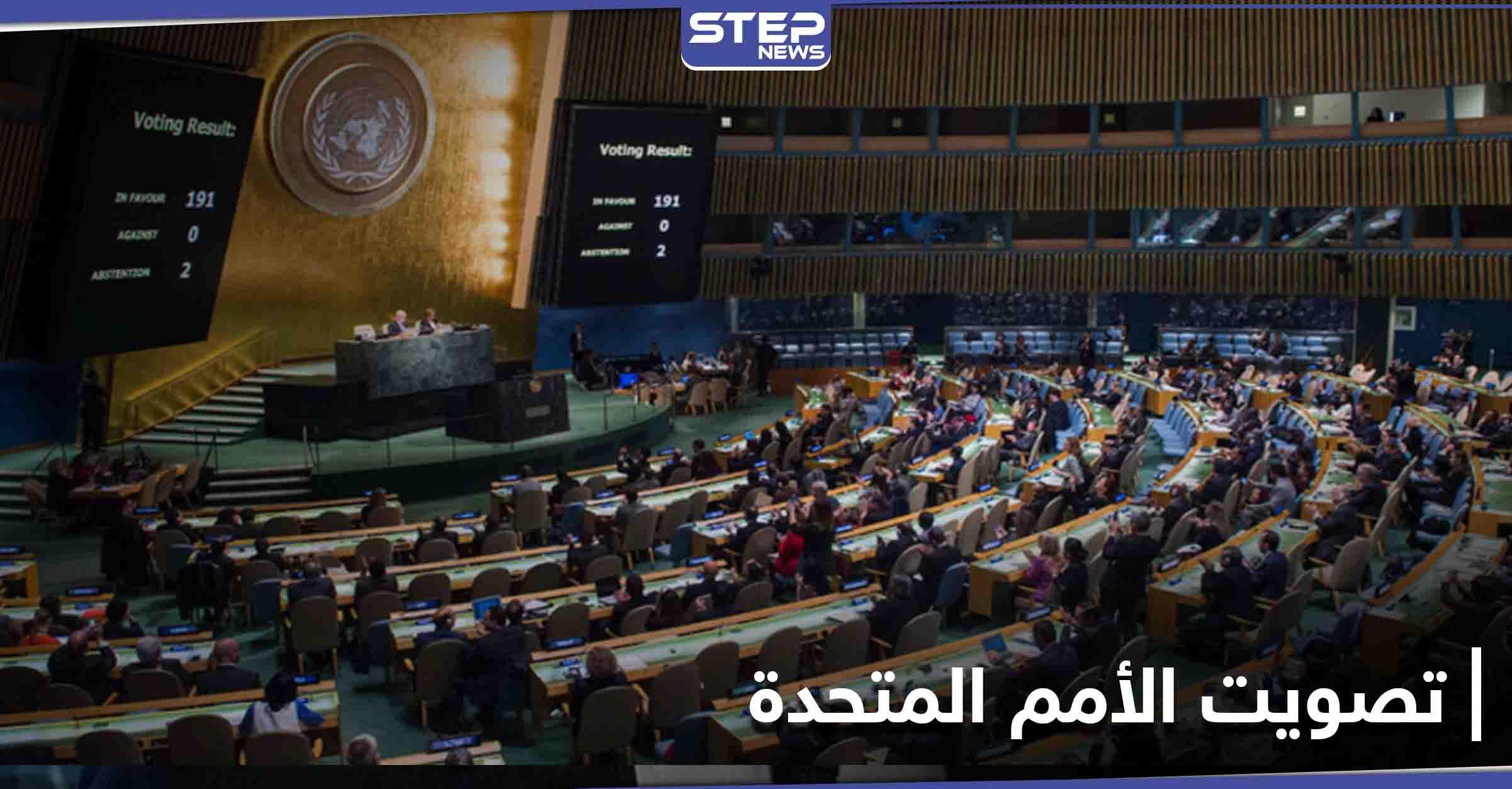 بأغلبية ساحقة... الأمم المتحدة تتبنى 6 قرارات لصالح فلسطين