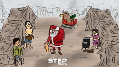 بابا نويل بالمخيمات السورية