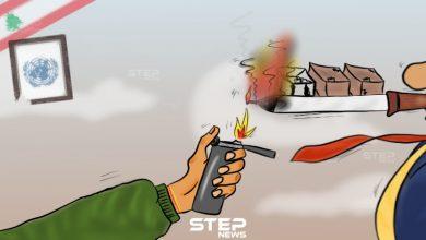 حريق مخيم المنية