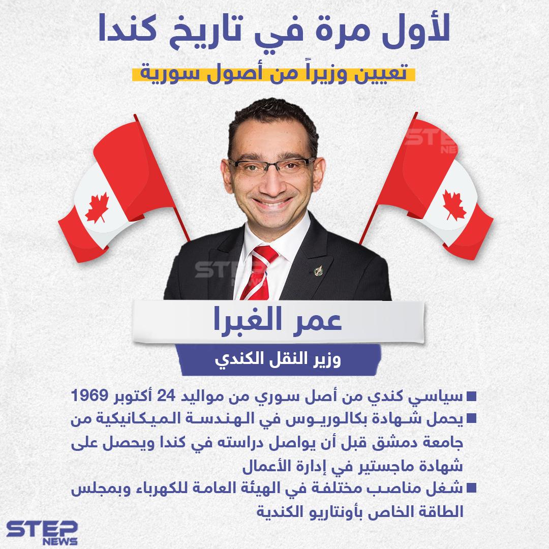 لأول مرة في تاريخ كندا ، تعيين وزير من أصول سورية