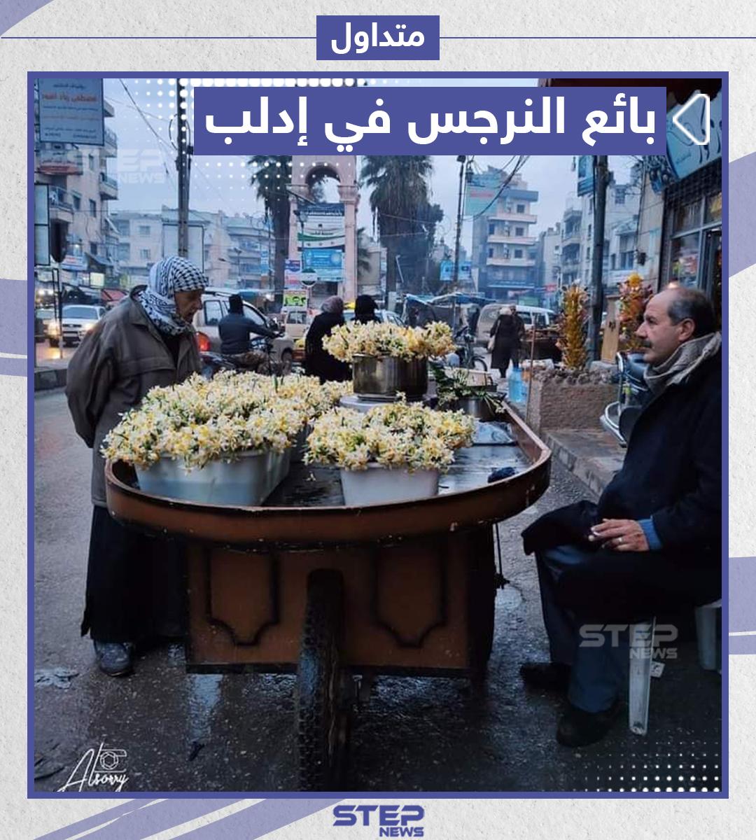 بائع النرجس في إدلب