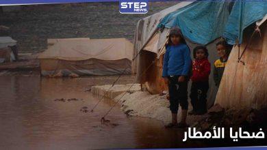 وفاة طفل وإصابة آخرين في مخيمات شمال إدلب بعد ليلة غزيرة بالأمطار