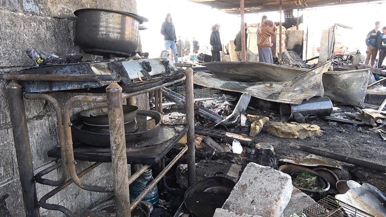 عدسة ستيب ترصد ما خلّفته الحرائق التي اندلعت في أحد مخيمات الشمال السوري