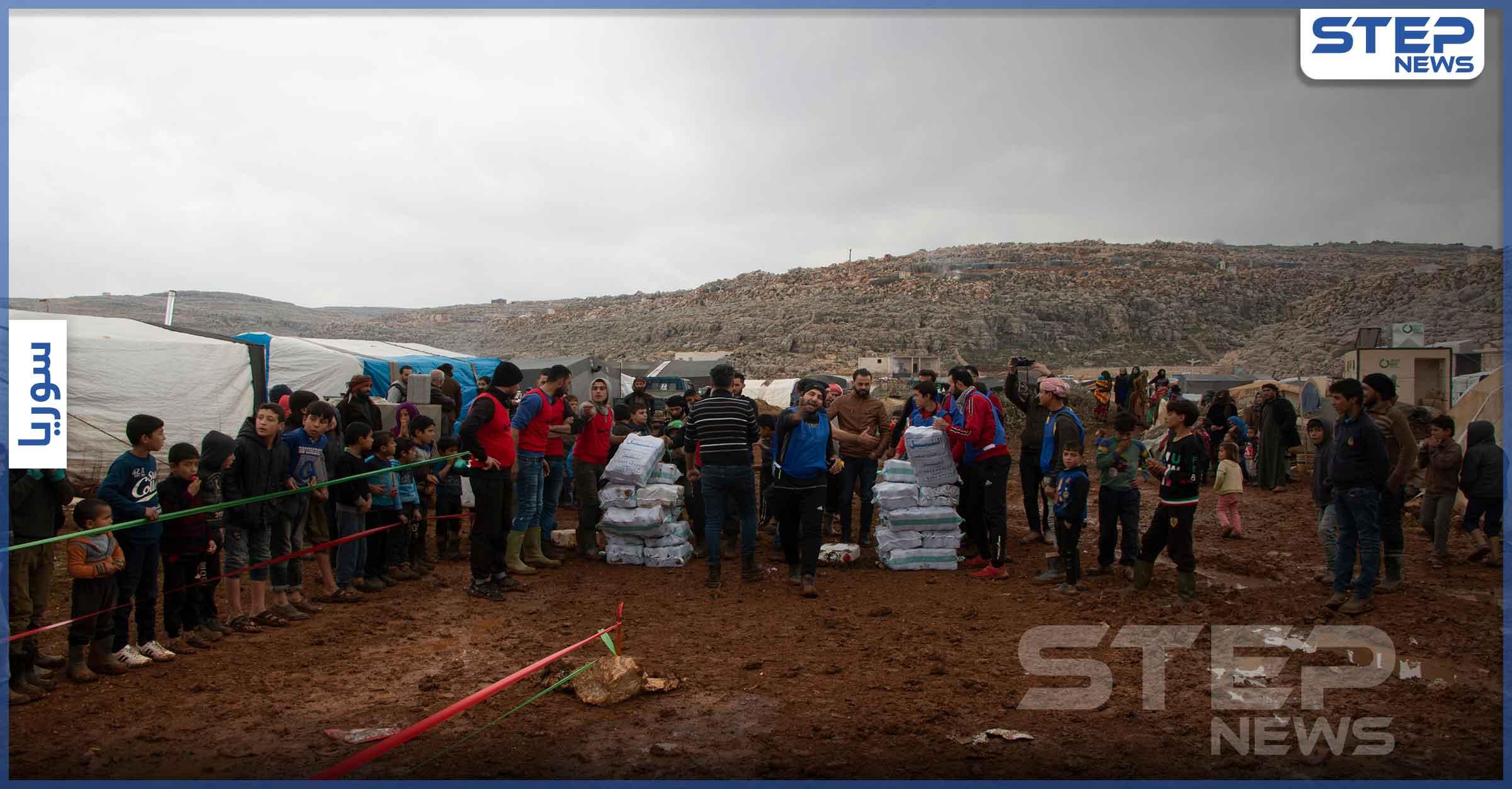 مبادرة سنشد عضك بأخيك محاكاة لواقع نازحي مخيمات الشمال السوري