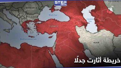 مستثنية إسرائيل.. خريطة للنفوذ التركي المتوقع بحلول 2050 تثير جدلًا واسعًا