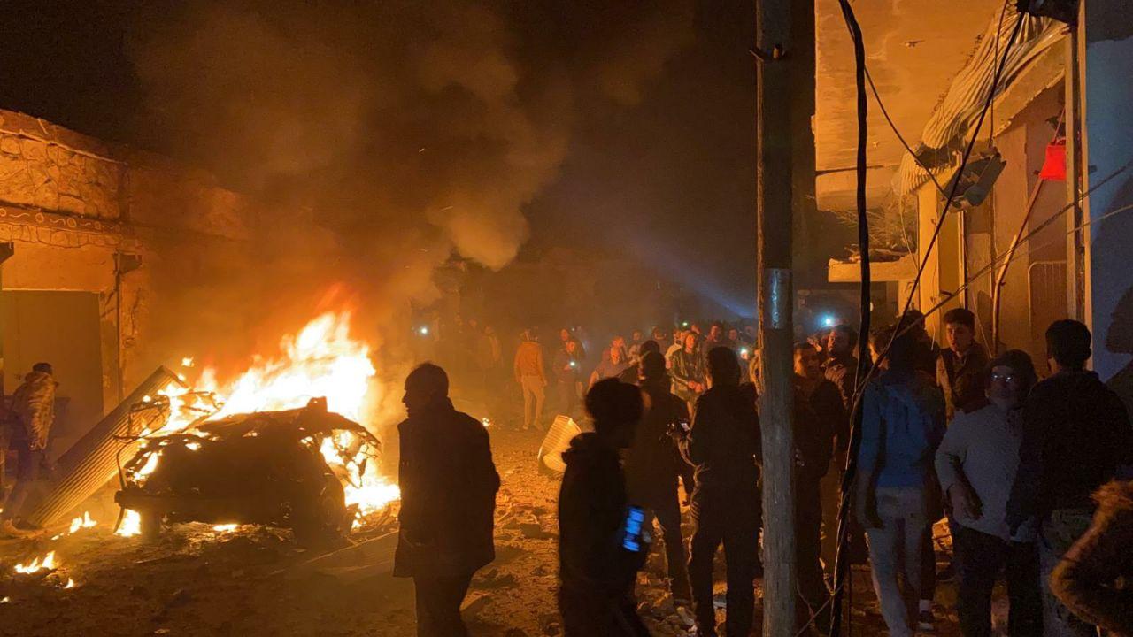 انفجار سيارة مفخخة قرب مركز الدفاع المدني في مدينة إعزاز شمال سوريا
