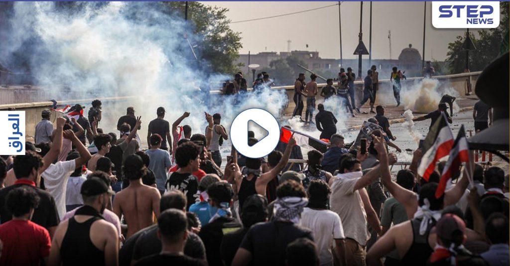 إصابات بين محتجين وصدامات مع قوات الأمن في النجف