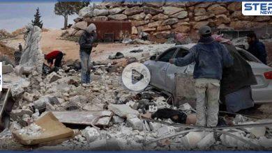 بالفيديو   قتلى وجرحى مدنيين بانفجار داخل مقلع حجارة غرب مدينة إدلب