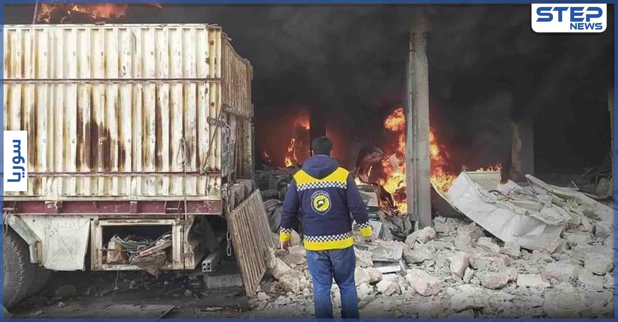 بالفيديو   انفجار يهز مدينة الباب شرقي حلب والتحقيقات جارية .. والنظام والروس يتناوبون على قصف جبل الزاوية