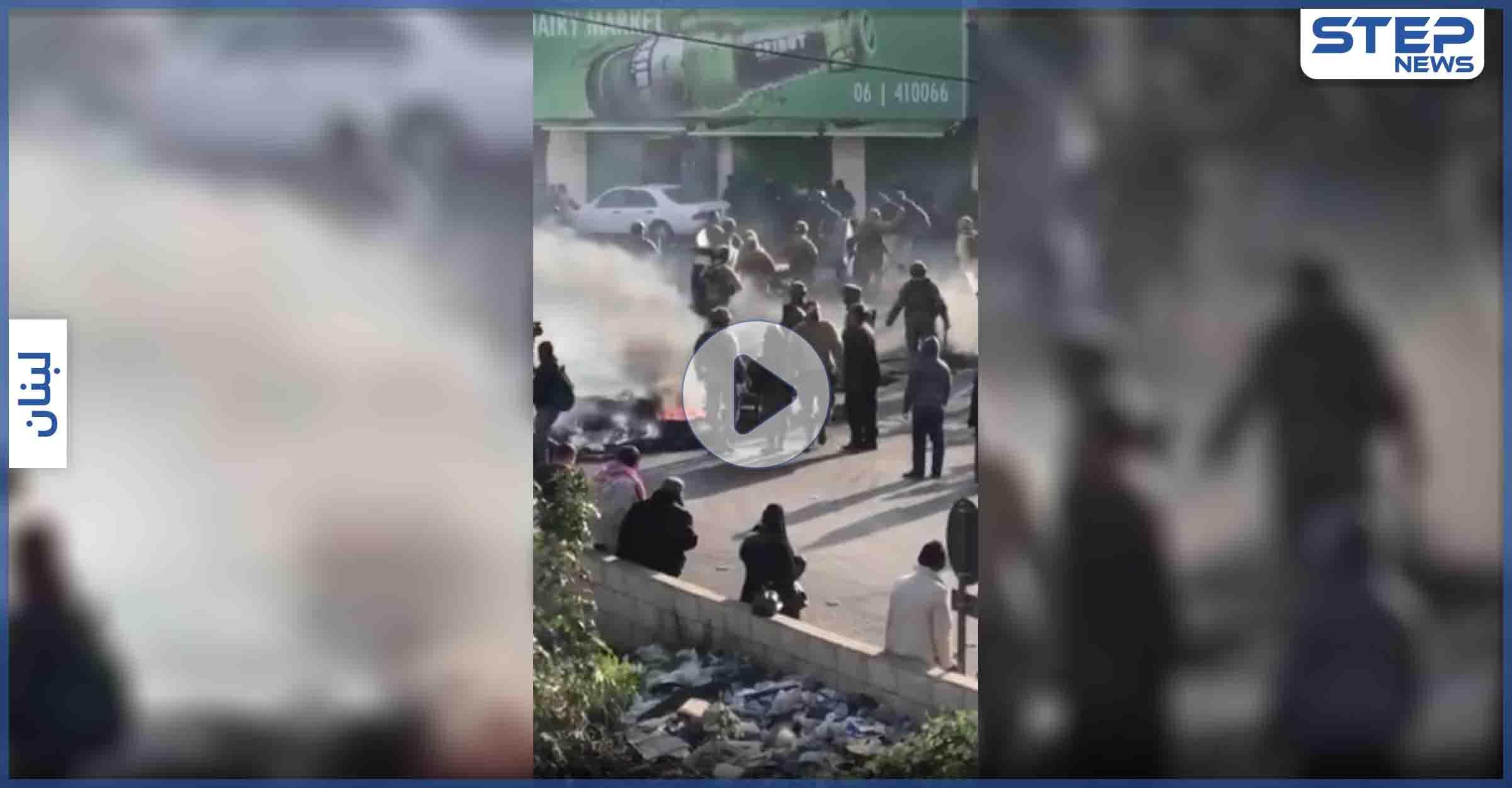 """بالفيديو    محاولات """"انتحار"""" وصدامات مع الجيش في احتجاجات غاضبة بلبنان"""