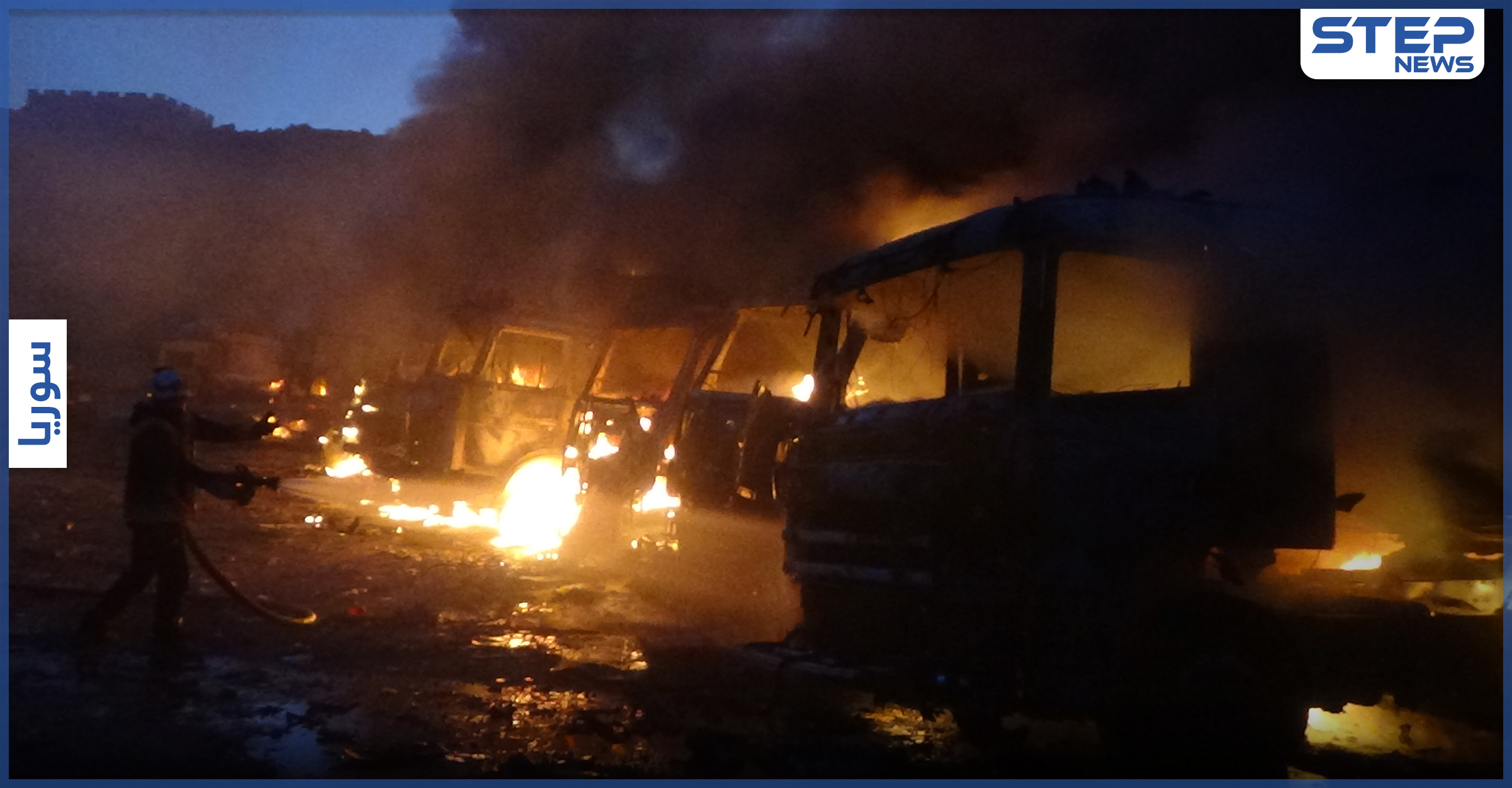 شاهد بالفيديو || ما خلّفه القصف الباليستي الروسي على مدينة سرمدا شرق إدلب