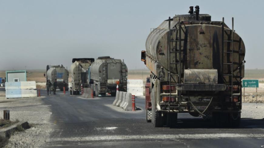 شاحنات نقل النفط شمال سوريا
