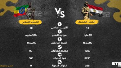 مقارنة بين الجيش المصري والجيش الإثيوبي