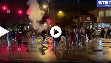 بالفيديو || احتجاجات غاضبة في أمريكا بعد مقتل شاباً أسود برصاص شرطي