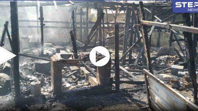 فيديو وصور || وفاة طفل وإصابات بحريق اندلع في مخيم لـ اللاجئين السوريين شمال لبنان