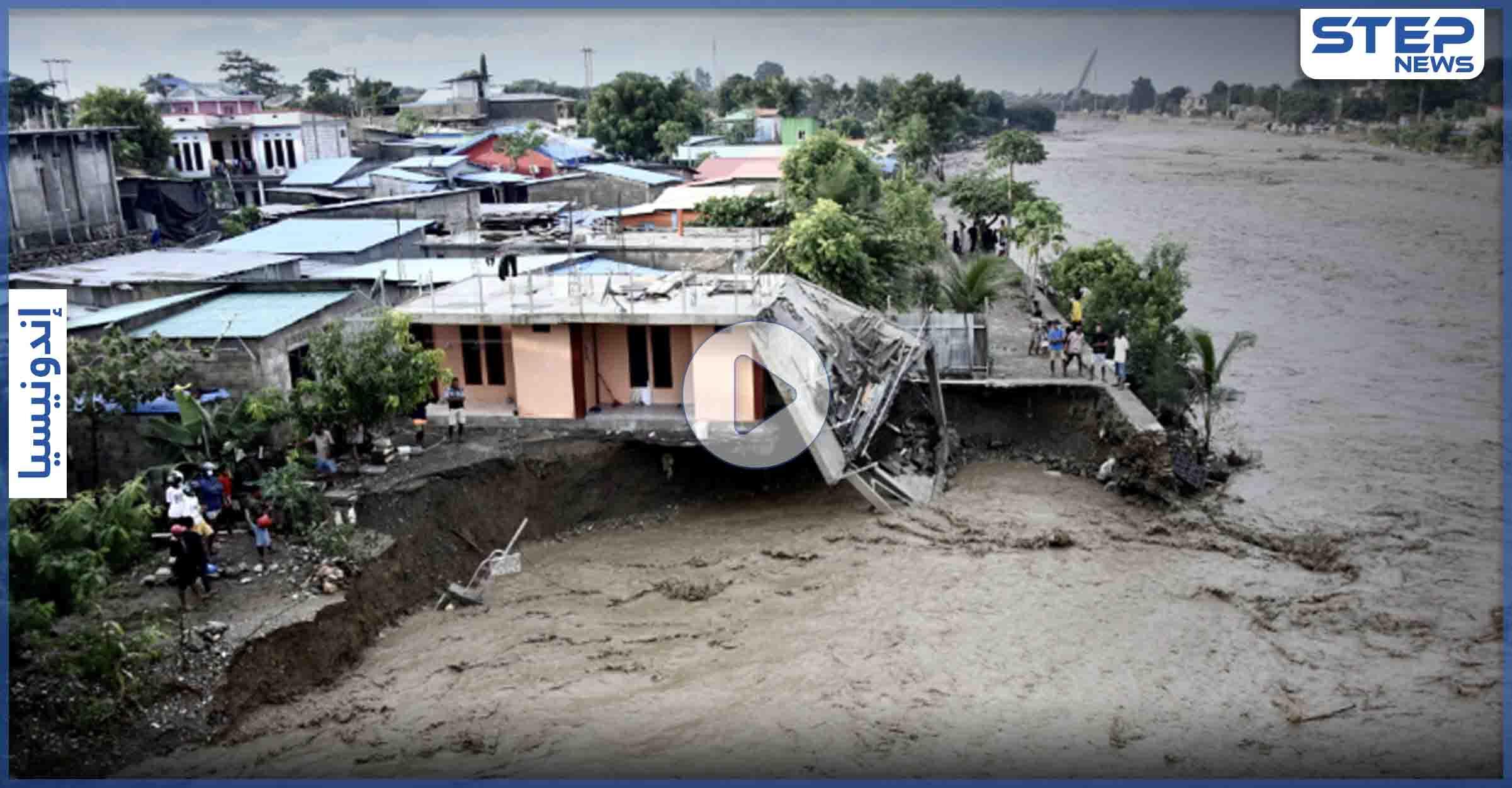 فيضانات هائلة وانهيارات الأرضية في إندونيسيا تخلف أكثر من 75 قتيلاً وعشرات المفقودين (فيديو وصور)