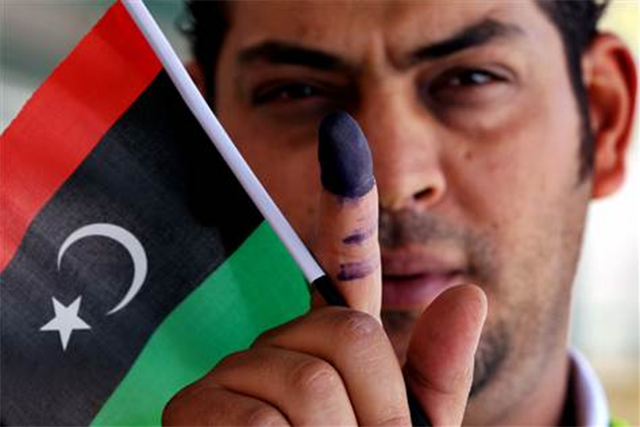 libya voter flag