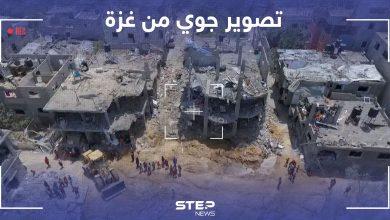 تصوير جوي يظهر الدمار الذي خلفه القصف الاسرائيلي على قطاع غزة