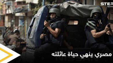 رجل مصري يقوم بفعل خطير