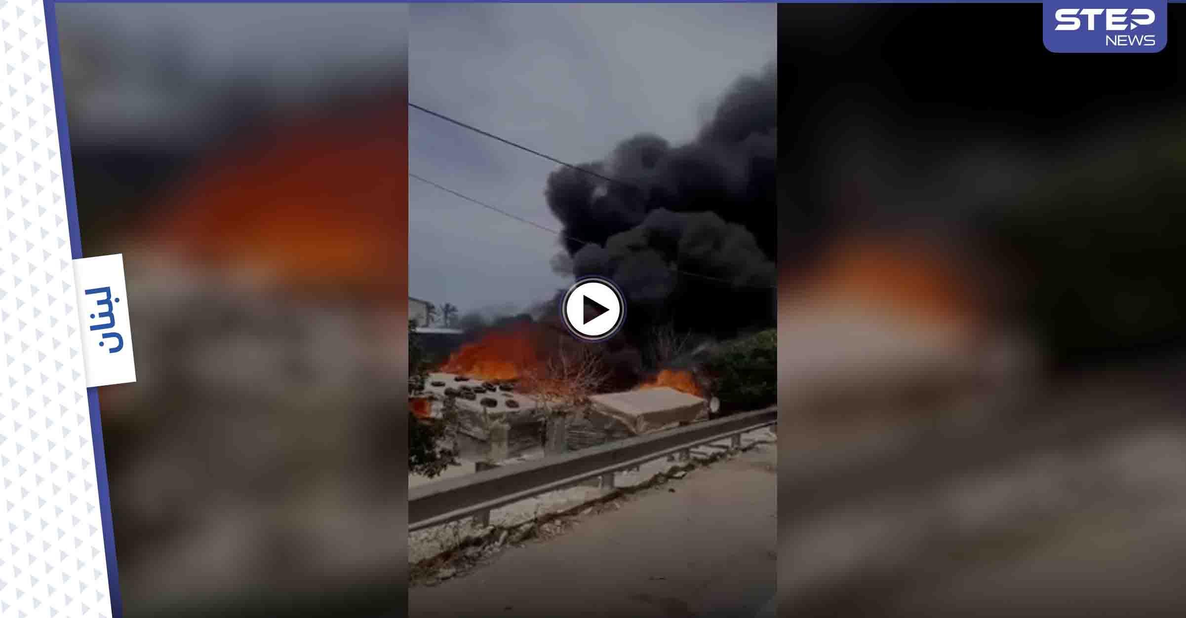 بالفيديو   ألسنة اللهب تلتهم مخيماً لـ اللاجئين السوريين بلبنان بعد تهديداتٍ تلقاها قاطنوه