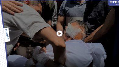 مشهد مؤثر || أب يودع أطفاله بالدموع بعدما خرج من تحت أنقاض منزله في مدينة غزة