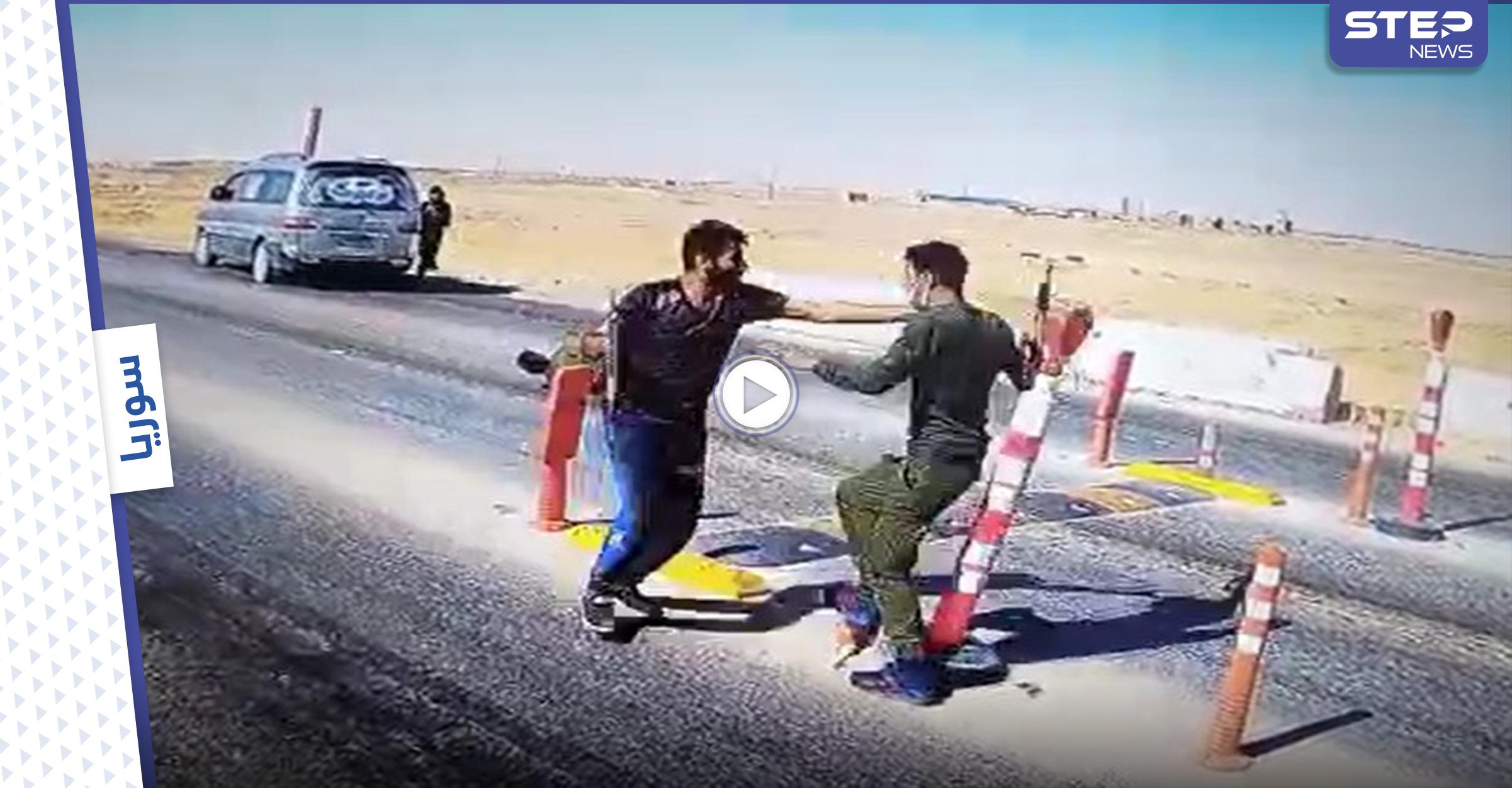 """بالفيديو   تصفية مدير """"أمن الحواجز"""" التابع لقسد على يد عناصر مجلس دير الزور العسكري"""