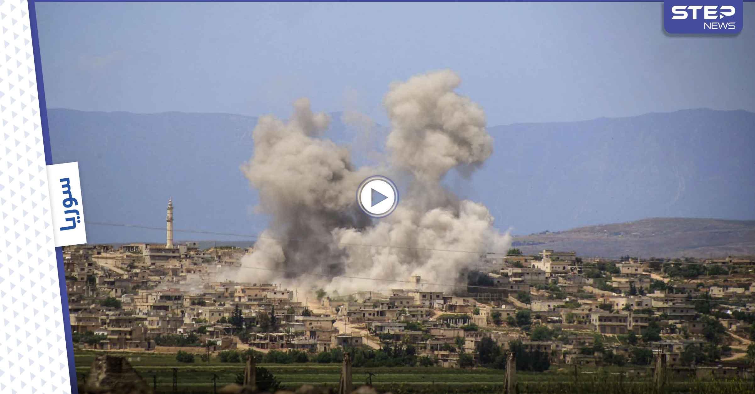 بالفيديو|| لحظة استهداف الطيران الروسي لمخبأ المتحدث العسكري باسم هيئة تحرير الشام ومقتله