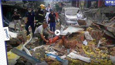 انفجار في أنبوب كبير للغاز في سوق صيني يخلف قتلى وجرحى (فيديو)