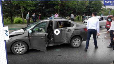 بالفيديو|| موكب أحمد داود أوغلو يتعرض لحادث سير وإصابة شخصية هامة فيه