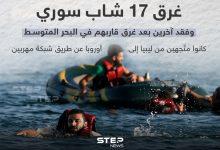 غرق 17 شاب سوري و فقد آخرين بعد غرق قاربهم في البحر المتوسط