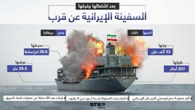 ماذا تعرف عن السفينة الإيرانية الأضخم.. التي احترقت وغرقت