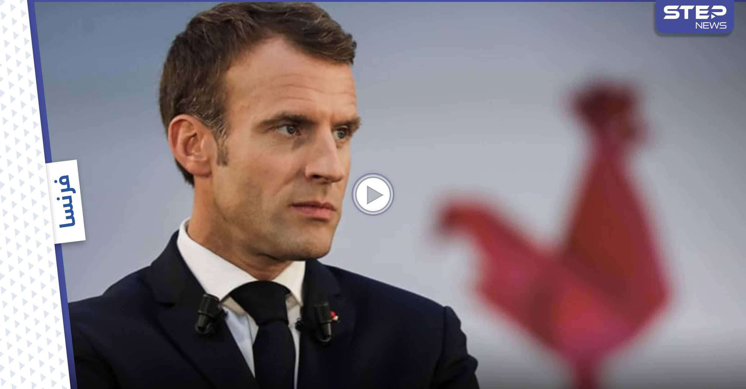 """بالفيديو    ماكرون يتلقى """"صفعة"""" على وجهه خلال زيارة إلى جنوب شرق فرنسا"""